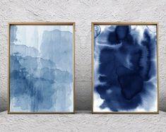 Watercolor Paintings Abstract, Blue Painting, Abstract Art, Bird Paintings, Minimal Art, Art Plastique, Geometric Art, Wall Art Prints, Decoration
