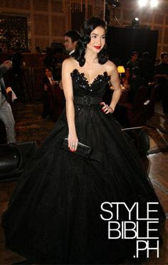 black ball gown, I actually I want this as a wedding gown, but of course it'll have to be in an off-white color