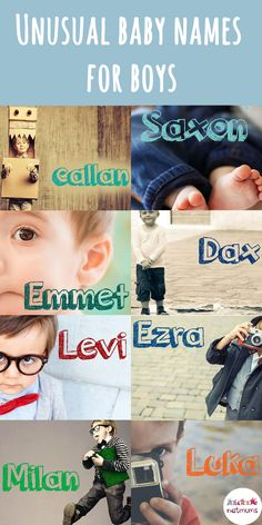 Unusual baby names for boysLooking for a baby name for a boy that's a bit unusual? We've put together a list of 31 unique and very cool baby names for boys.Will any of these tickle your fancy?