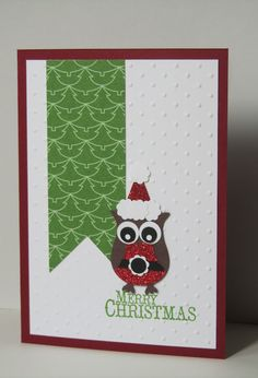 Santa Owl | Stamp Up Your Craft