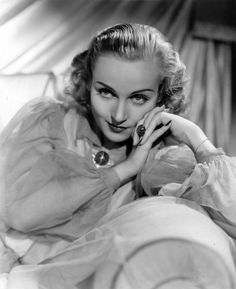 """Carole Lombard 1936 """"She was so alive, modern, frank, and natural that she stands out like a beacon on a lightship in this odd place called Hollywood."""" - Barbara Stanwyck"""