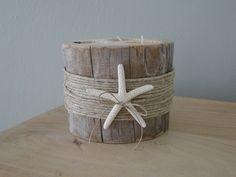 Driftwood tea-light holder  | Driftwood decor | Driftwood table decoration | Driftwood candle holder | Coastal decor | Beach Decor by LittleBeachTree on Etsy