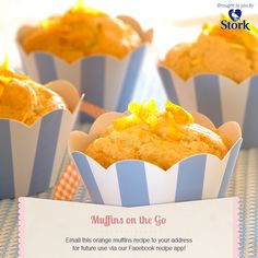 Need a recipe for a delicious muffins? Try this orange muffins recipe for a delicious baked treat today. World Recipes, Muffin Recipes, Gourmet Recipes, Baking Recipes, Snack Recipes, Dessert Recipes, Dessert Food, Dinner Recipes, Scone Recipes