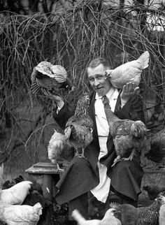 by Celine.Excoffon, via Flickr~ I love these old pics of people with their chickens!