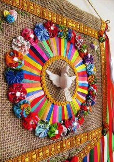 totally amazing home decor Diy And Crafts, Crafts For Kids, Arts And Crafts, Art N Craft, Diy Art, Thali Decoration Ideas, Decorations, Religious Art, Bottle Crafts