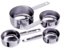 Progressive International 4Piece Stainless Steel Measuring Cup >>> AMAZON BEST BUY   #BakingGadgets