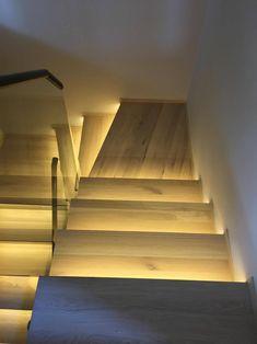 lépcső, LED bemarás
