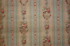 Rosie's Vintage Wallpaper: My Love for Vintage Wallpaper.  1930's floral wallpaper.