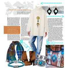A fashion look from September 2015 featuring Tory Burch sweaters, G-Star Raw jeans i Paul Frank bracelets. Browse and shop related looks.