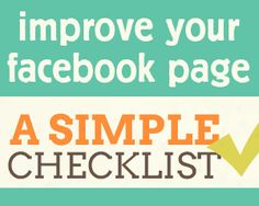 #Infographic: Improve Your #Facebook Page - A Simple Checklist! by @Louise Myers #sm