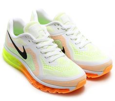 Nike Air Max+ 2014:  White/Atomic Mango/Volt/Black