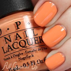 OPI Hawaii Spring 2015, Is Mai Tai Crooked? Cantaloupe orange creme, that my collection is SERIOUSLY lacking. Need pronto!