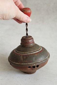 Vintage teetotum tin spinning top metal by MagicVintageShop