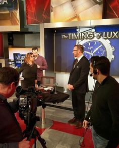 And away we go! @morningsmaria and @robbreport_eic Brett Anderson talking luxury watch industry.  Regram from @robbreportwatchcollector  Robb Report senior editor of horology @jmastinef  via ROBB REPORT MAGAZINE OFFICIAL INSTAGRAM - Luxury  Lifestyle  Style  Travel  Tech  Gadgets  Jewelry  Cars  Aviation  Entertainment  Boating  Yachts