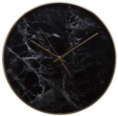 cloudunola gold marble black clock