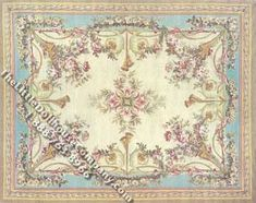 Dollhouse Scale Model Small Sized Aubusson Savonnerie Rug