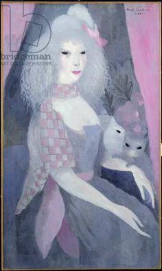 Woman with Cats, 1920 (oil on canvas), Laurencin, Marie (1883-1956)