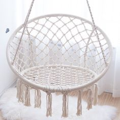 Order the Milky Garden Hammock Chair for your home or patio. The Apollo Box has creative products and home decor for your favorite spaces. Garden Hammock, Hammock Swing Chair, Swinging Chair, Swing Chairs, Rope Hammock, Swing Chair Indoor, Trampoline Swing, Outdoor Hammock, Bedroom Chair