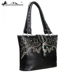 Montana West Western Buckle Collection Handbag, Croc Print Tote – Handbag Addict.com