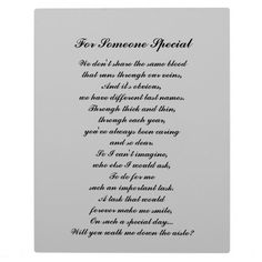 """""""Walk Me Down the Aisle?"""" Plaque (for """"like a father"""")"""