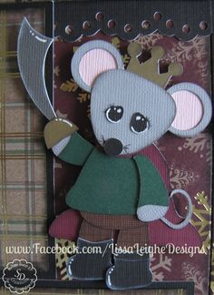 www.facebook.com/LissaLeigheDesigns Silhouette Cameo Paper Piecing ScrappyDew Scrapbooking Christmas Layout