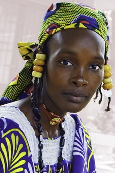 Peulh woman, Ivory Coast by Daniel Ivorra African Life, African Men, African Culture, African History, African Beauty, Beautiful Black Women, Beautiful People, Costume Ethnique, African American Artwork