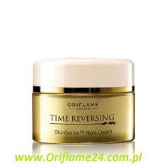 Time Reversing SkinGenist™ Night Cream - Krem na noc Time Reversing SkinGenist™ Oriflame. Regeneruje Twoją skórę, kiedy śpisz! Silnie działająca formuła przeciwstarzeniowa pomaga przedłużać młody wygląd skóry. Skondensowany składnik genisteinSOY gwarantuje działanie na głębokie partie skóry. Luksusowa konsystencja odżywia i regeneruje skórę nocą, zwiększa jej sprężystość i znacząco redukuje ilość zmarszczek. 50 ml