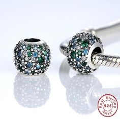authentic silver charm beads fits Pandora charm and European charm bracelets gem studded shoe Diamond Earrings, Stud Earrings, Silver Charms, Pandora Charms, Cufflinks, Gems, Charmed, Charm Bracelets, Accessories