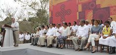"""El Gobernador de Veracruz, Javier Duarte de Ochoa, inauguró la XVI edición de la Cumbre Tajín """"El trayecto de nuestra luz""""  en el Parque Temático Takilhsukut."""