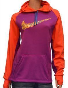 Amazon.com: Nike Women's Therma-Fit Big Swoosh Training Hoodie-Purple/Coral: Clothing