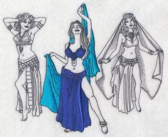 Belly Dance Fashion Plate design (L5504) from www.Emblibrary.com