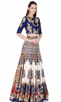 Shop the latest styles of Sakkas Asma Convertible Traditional Wax Print Adjustable Strap Maxi Skirt Saris, Indian Attire, Indian Wear, Pakistani Outfits, Indian Outfits, India Fashion, Asian Fashion, Lehenga, Anarkali
