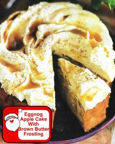 Eggnog Apple Cake Wi