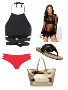 """Beach Day☀️"" by brooklynb39 on Polyvore featuring Boohoo, L*Space, Mikoh, MIA and River Island"