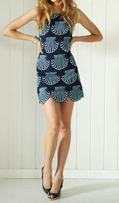 Lilly Pulitzer Delia Scalloped Hem Shift Dress