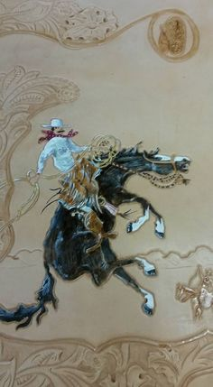Leather Carving, Leather Art, Leather Tooling, Tooled Leather, Tool Sheds, Leather Pattern, Western Art, Cowboys, Handmade Leather