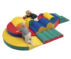 OMG... I want to play on this, let alone my child!! Multi Colored, Multi Piece Play Set    Awesome for a Toddler Play Area