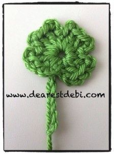 This will be fun to make for St. Patrick's Day! Crochet Four Leaf Clover - Dearest Debi Patterns