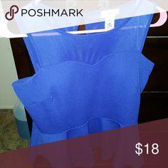 See through peplum shirt Brand new never been worn Tops
