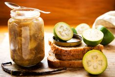 Feijoa jam with vanilla and fresh ginger recipe, Viva – Use firm feijoas in this jam recipe The addition of vanilla and ginger adds an extra depth to this feijoa jam – bite.co.nz