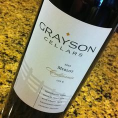 This was a very clever hostess gift. Get it?  I'll totally be serving Grayson Cellars wine at my next Revenge partaaay.