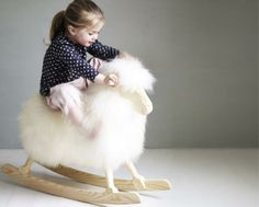 Ba ba white sheep....a woolly rocking toy is so much cooler than a horse.