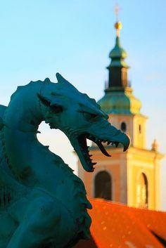 Il simbolo di Lubiana / The symbol of Ljubljana by AndreaPucci, via Flickr #dragon