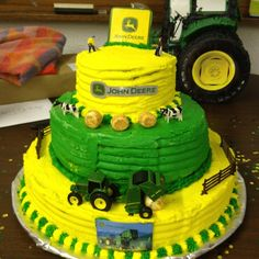 john deere birthday party ideas | John Deere birthday cake