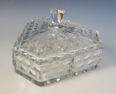 Rare Fostoria American 3 Part Candy Dish in Excellent Condition! Great Collector's or Wedding Gift! by RecycleandRenew on Etsy