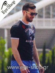 Γιώργος Μπαλωμένος φοράει τα γυαλιά ηλίου Artwood Milano Bambooline 1 MP200  κλικ στη φωτο για να 05e5e8fb41b