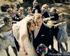 Just how brave are you? Could you survive your own Walking Dead Wave Wedding? Run the gauntlet of the most daring nuptial festivities ever! What more can we say but...zombie apocalypse!  #WalkingDead #zombiewedding