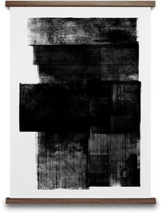 """Midnight by Lemon - Abstract black & white print depicting layers of lino prints creating a transition between positive & negative.   """"Lemon is a multi-disciplinary design studio specialising in the fields of product and graphic design. Our team, which consists of illustrators, artists, photographers and designers, focuses on continuous experimentation with concepts and materials, which is underpinned by a considered approach to our craft. We have a particular interest and fascin..."""