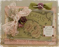 Enda et bryllupskort :) Her har jeg brukt papirer fra 7gypsies og MME. Overlays fra Hambly. Chipboard fra MM, Melissa Frances og Heidi Swapp...