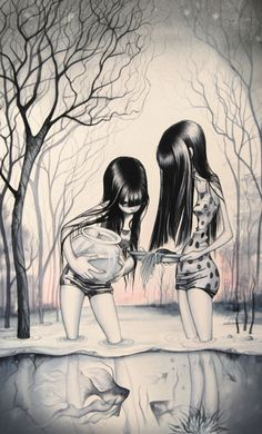 The artist's name is Annie Owens... and this reminds me so much of Haylie & Emily Ann